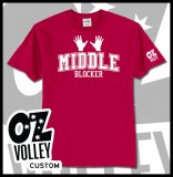 "OzVolley ""Middle Blocker"" Men's Tee"