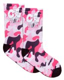 OzVolley Sublimated Crew Sock - Pink Camo