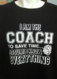 "OzVolley ""Coach Knows Everything"" Women's Tee"
