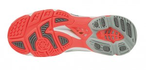 Mizuno Wave Lightning Z5 Women's Volleyball Shoe (Glacier Gray/Fiery Coral)