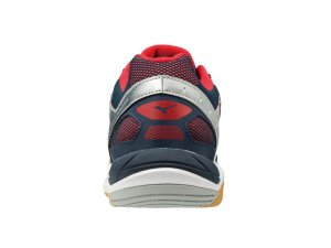Mizuno Wave Supersonic (White/DressBlues/ChineseRed)